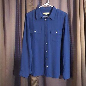Loft blue dress shirt